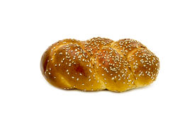 Challah on white background Royalty Free Stock Photography