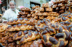 Challahbrot für Shabbat Lizenzfreies Stockfoto