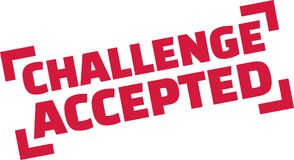 Challenge Accepted stamp stock images