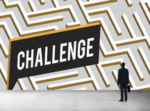 Challenge Analyze Complicated Maze Concept Stock Photography