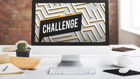 Challenge Analyze Complicated Maze Concept Royalty Free Stock Image