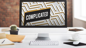 Challenge Analyze Complicated Maze Concept Stock Images