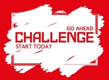 Challenge banner concept Stock Photo
