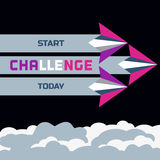 Challenge banner Royalty Free Stock Photography