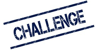 CHALLENGE blue distressed rubber stamp. Illustration concept Royalty Free Stock Image