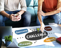 Challenge Competition Goals Improvement Mission Concept Royalty Free Stock Images