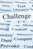 Challenge Concept. A conceptual look at challenge, geing tested, competing, dareing Royalty Free Stock Photo