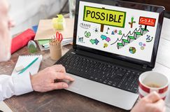 Challenge concept on a laptop screen. Challenge concept shown on a laptop screen Royalty Free Stock Images