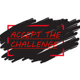 Challenge Concept. Motivation Quote Accept the Challenge. Stock Images