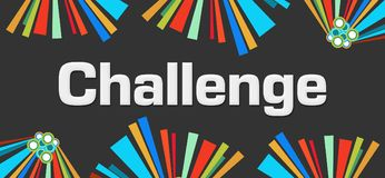 Challenge Dark Colorful Elements Background. Challenge text written over dark colorful background Royalty Free Stock Images