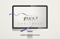 Challenge Development Mission Vector Concept Royalty Free Stock Photos