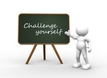challenge dig Arkivfoton