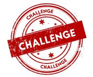 CHALLENGE distressed red stamp. Illustration graphic concept Royalty Free Stock Photo