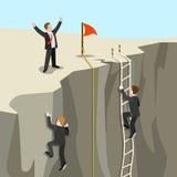 Challenge goal achievement business concept flat 3d web isometric Stock Photography
