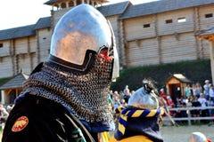 Challenge. International Championship on the historical medieval battle Call of heroes. It passes near Kiev, in the village of Kopachev, Ukraine, 19-20 September Stock Photos