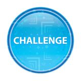 Challenge floral blue round button vector illustration