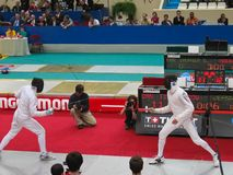 Challenge Monal Paris - Fencing stock photos