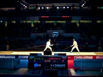Challenge Monal Paris - Fencing semi-finals men stock image