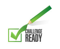 Challenge ready check mark illustration Royalty Free Stock Photo