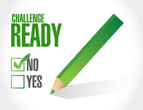 challenge ready check mark illustration design Royalty Free Stock Images