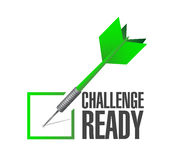 challenge ready dart check mark Stock Photos