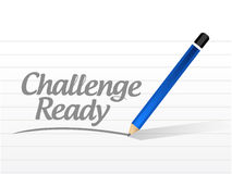 Challenge ready message sign illustration design Royalty Free Stock Photography