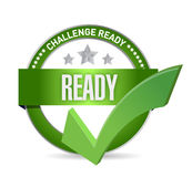 Challenge ready seal illustration design. Over a white background Royalty Free Stock Image