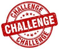 challenge red grunge round vintage stamp Stock Images