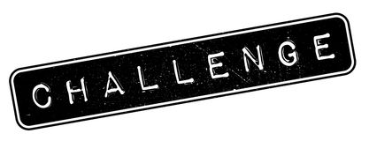 Challenge rubber stamp. Grunge design with dust scratches. Effects can be easily removed for a clean, crisp look. Color is easily changed Stock Photo