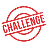 Challenge rubber stamp. Grunge design with dust scratches. Effects can be easily removed for a clean, crisp look. Color is easily changed Stock Image