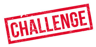 Challenge rubber stamp. Grunge design with dust scratches. Effects can be easily removed for a clean, crisp look. Color is easily changed Stock Images