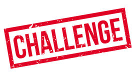 Challenge rubber stamp. On white. Print, impress overprint Royalty Free Stock Photos