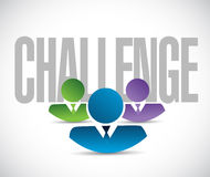 Challenge team sign illustration design graphic. Over white Royalty Free Stock Image