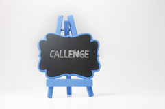 Challenge Text on Blackboard Stock Images