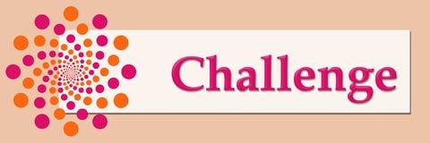 Challenge Pink Orange White Horizontal. Challenge text written over pink orange background Royalty Free Stock Photos