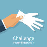 Challenge to duel. Vector Stock Image
