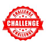 Challenge vector label stock illustration