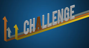 Challenge word design with graphic vector Concept. Challenge word design with graphic vector Stock Photos