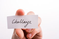 Challenge written paper Royalty Free Stock Photos