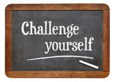 Challenge yourself on blackboard Royalty Free Stock Photos