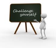 Challenge yourself Stock Photos