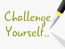 Challenge Yourself Indicates Persistence Determined And Motivate Stock Images