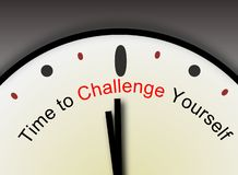 Free Challenge Yourself Message Stock Image - 25947311