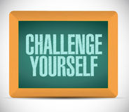 Challenge yourself message illustration design. Over a white background Royalty Free Stock Photo