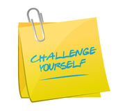 Challenge yourself post message illustration Stock Images