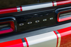 Challenger τεχνάσματος λεπτομέρεια αυτοκινήτων στην επίδειξη Στοκ φωτογραφία με δικαίωμα ελεύθερης χρήσης