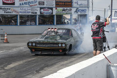 Challenger drag car Royalty Free Stock Images