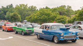 Challenger, Super Bee, and Bel Air, Woodward Dream Cruise Royalty Free Stock Photo
