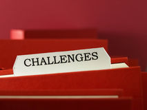 Challenges (label) Stock Images