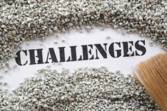 Challenges -- Treasure Word Series Stock Photos